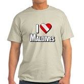 Scuba: I Love Maldives Light T-Shirt