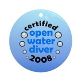 Open Water Diver 2008 Ornament (Round)