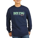 Diving Slut Long Sleeve Dark T-Shirt