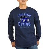 Coed Naked Diving Long Sleeve Dark T-Shirt