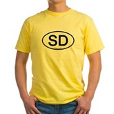 SD Oval Yellow T-Shirt