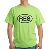 RES Oval Green T-Shirt