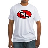DL Oval Scuba Flag Fitted T-Shirt