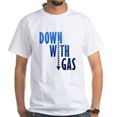 Down With Gas White T-Shirt