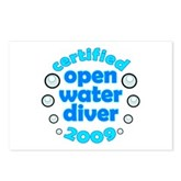 Open Water Diver 2009 Postcards (Package of 8)