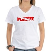Plongee French Scuba Flag Women's V-Neck T-Shirt