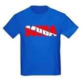 Scuba Text Flag Kids Dark T-Shirt