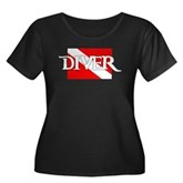 Pirate-style Diver Flag Women's Plus Size Scoop Ne