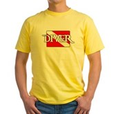 Pirate-style Diver Flag Yellow T-Shirt