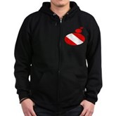 Thought Bubble Dive Flag Zip Hoodie (dark)
