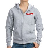 Tauchen German Scuba Flag Women's Zip Hoodie
