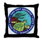 Take Only Memories (turtle) Throw Pillow