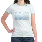 SCUBA Tag Cloud Jr. Ringer T-Shirt
